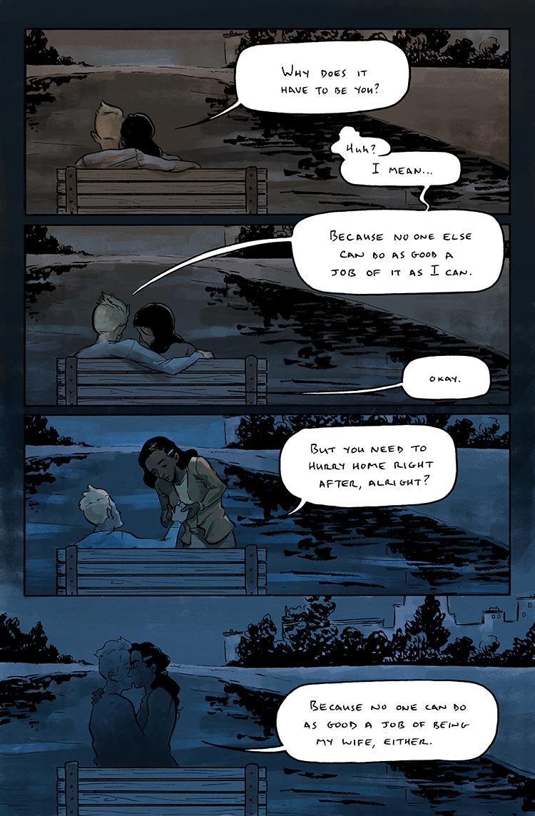 Relativity Page 4: Yeah, it's a bit schmaltzy.