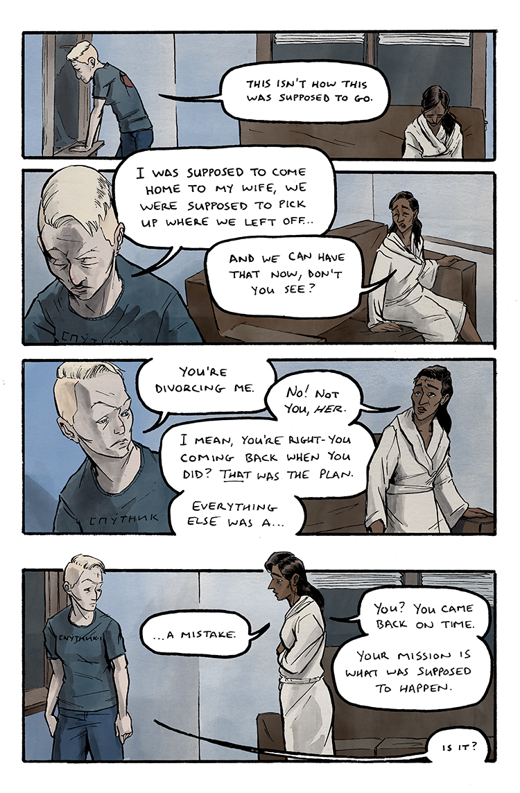 Relativity Page 12: What was supposed to happen